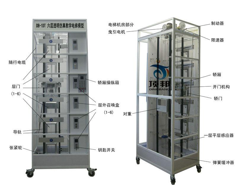 六层透明电梯模型