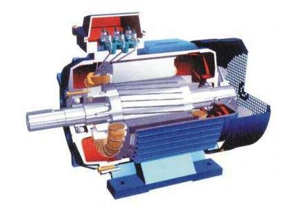 异步电动机解剖模型